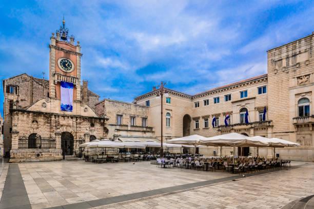 Zentrum der Stadt Zadar, Kroatien. – Foto