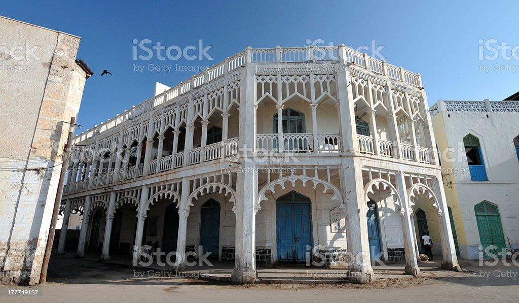 City center street in Massawa Eritrea stock photo