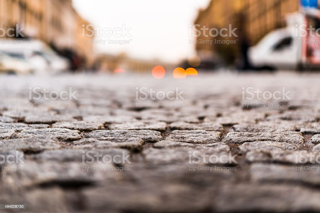 City central square paved with stone stock photo