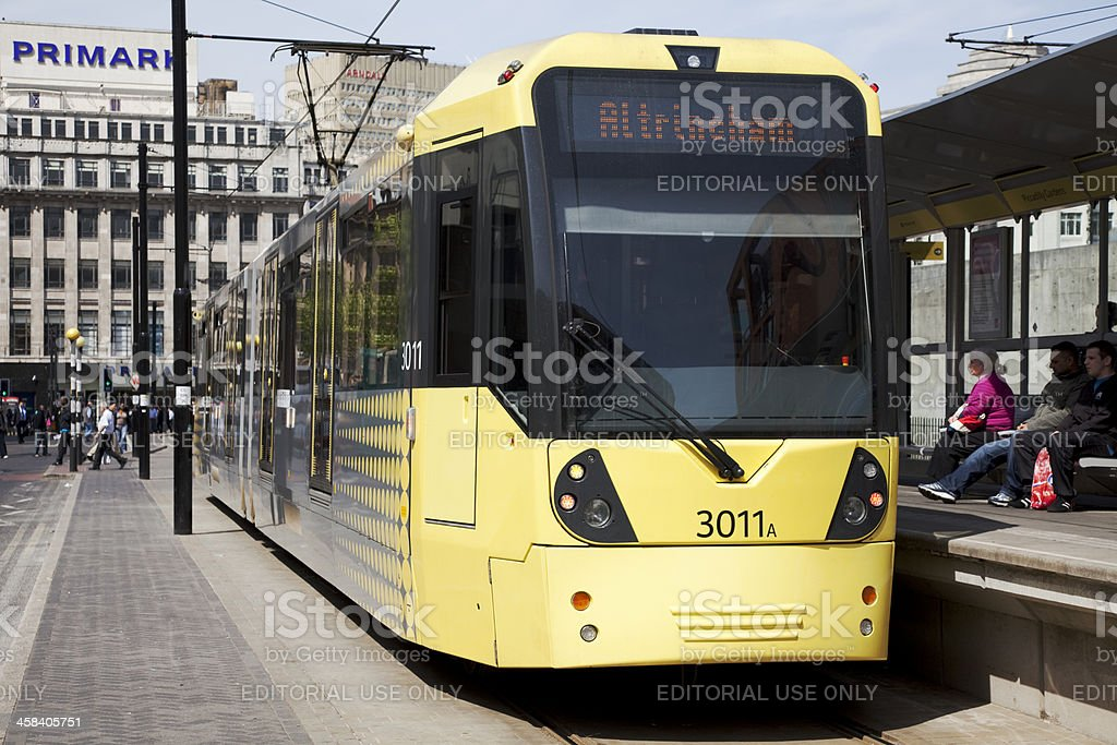 City centre tram, light railway stock photo
