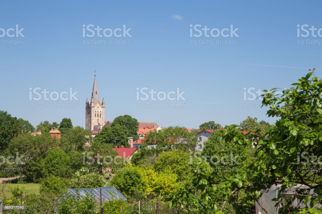 City Cesis, Latvia. Old town and urban city view. royalty-free stock photo