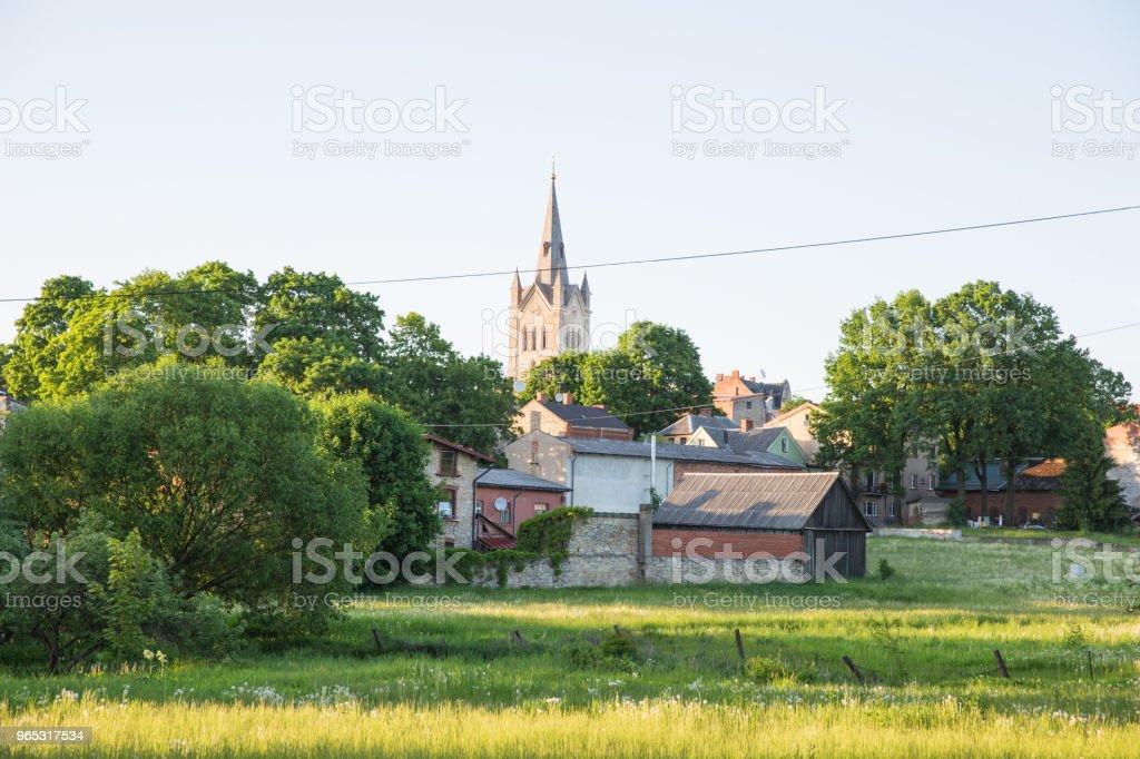 City Cesis, Latvia. Old town and urban city view. zbiór zdjęć royalty-free