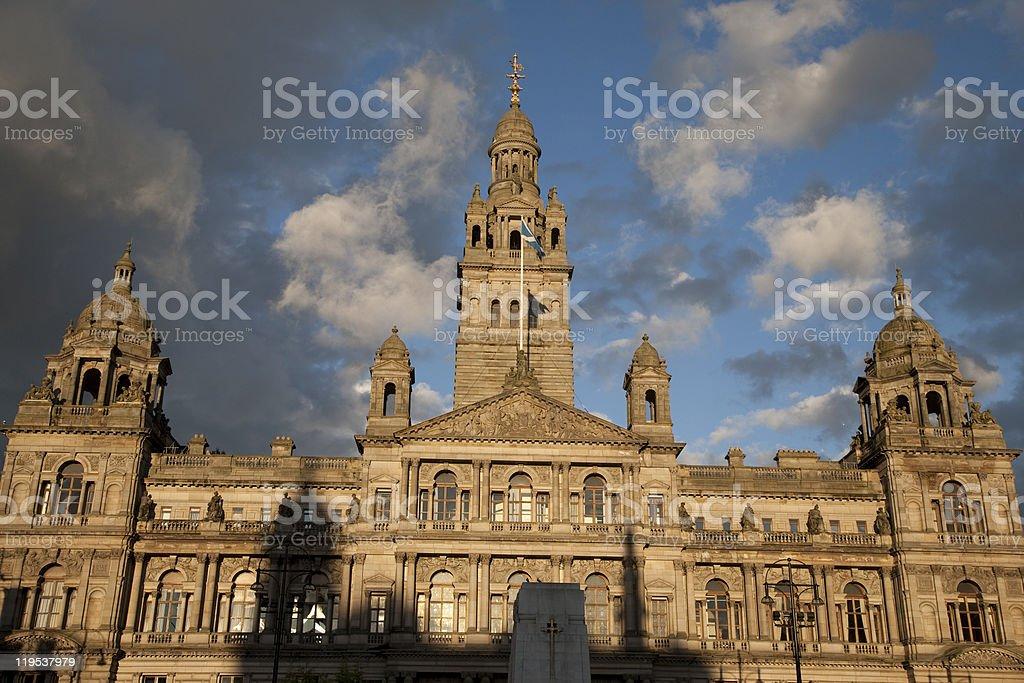City Chambers in Glasgow stock photo