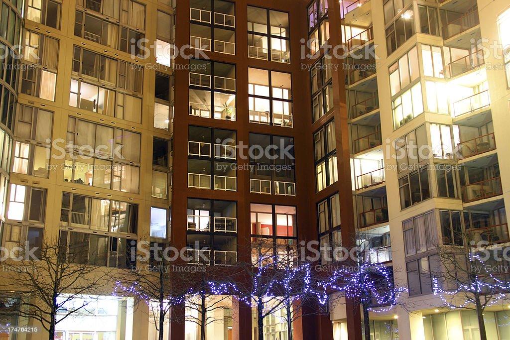 City Christmas royalty-free stock photo