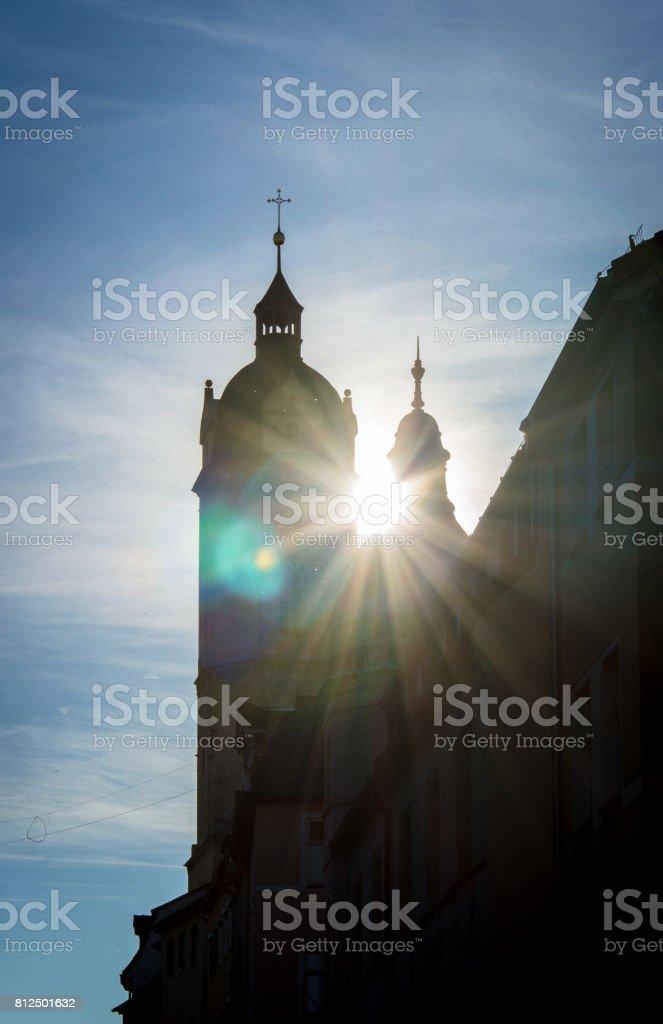 City Church St. Michael in German city Jena, Germany stock photo