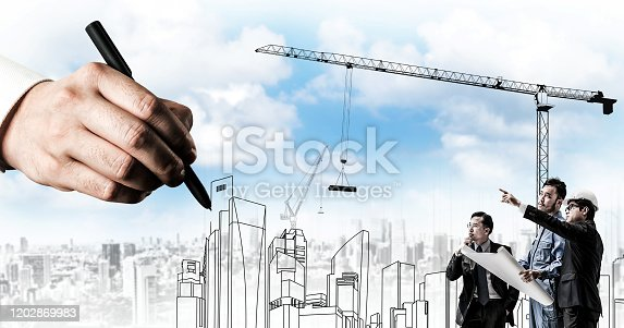 istock City civil planning and real estate development. 1202869983