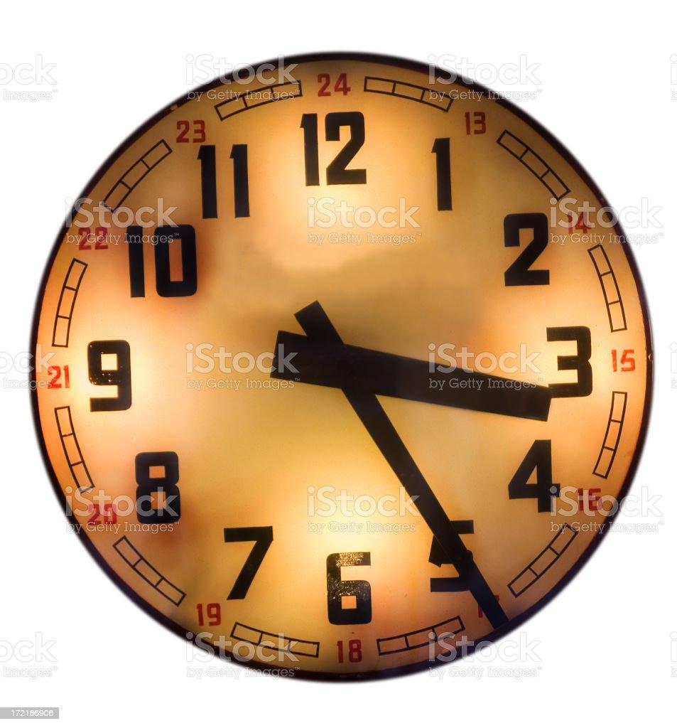 city clock stock photo