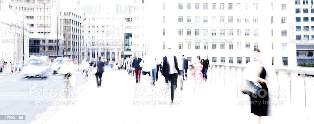 City commuters stock photo