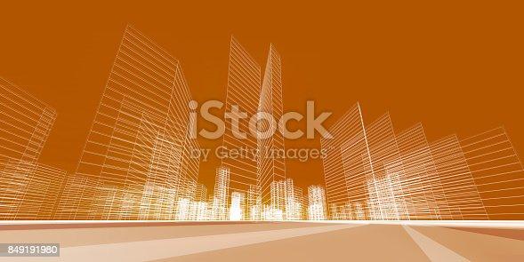 istock City concept 3d rendering 849191980