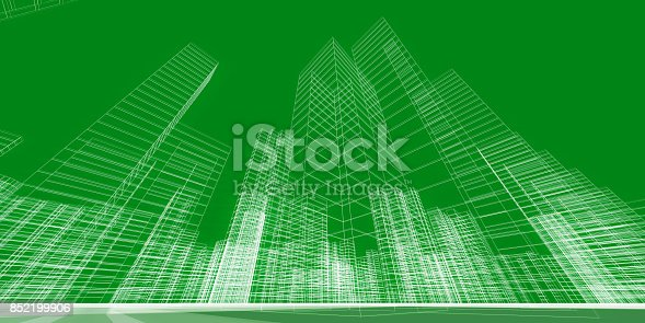 istock City concept 3d rendering 852199906