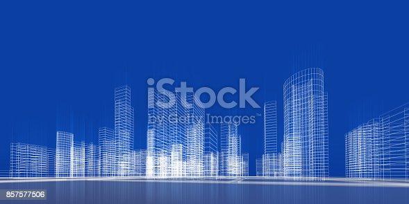 istock City concept 3d rendering 857577506