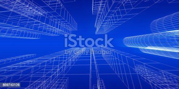 istock City concept 3d rendering 859740126