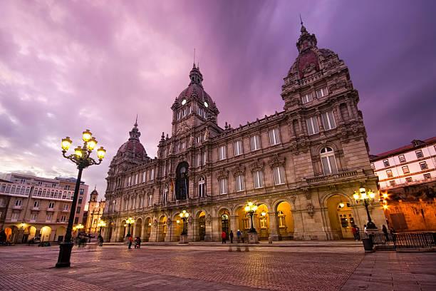 Ayuntamiento de La coruña, Galicia, España - foto de stock