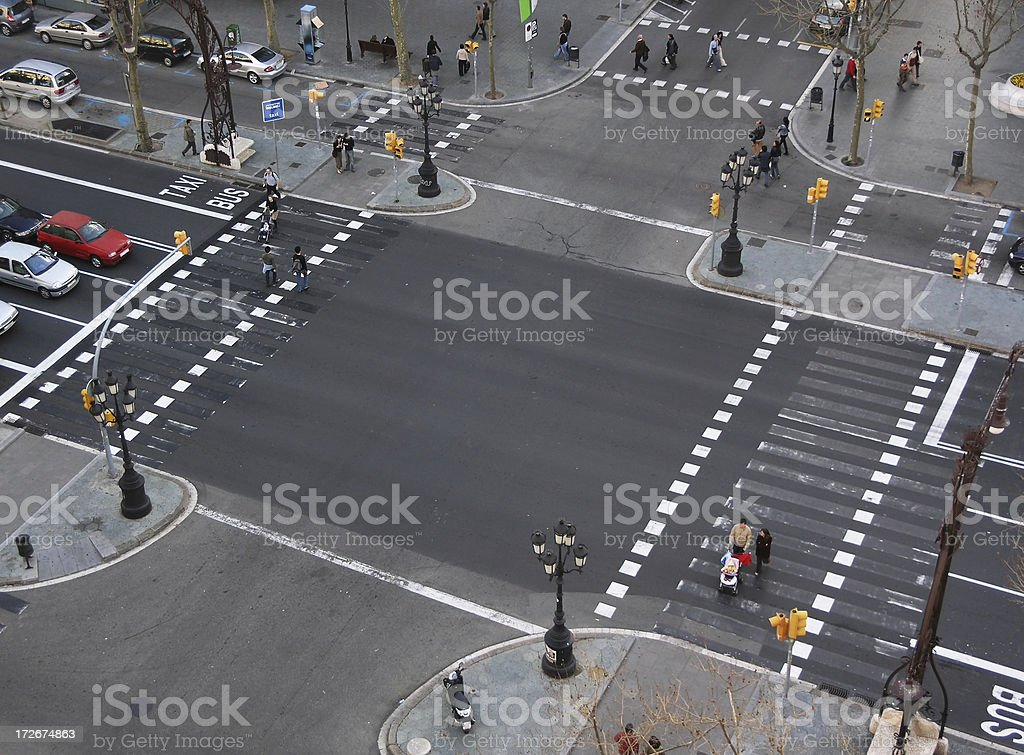 city crossing royalty-free stock photo