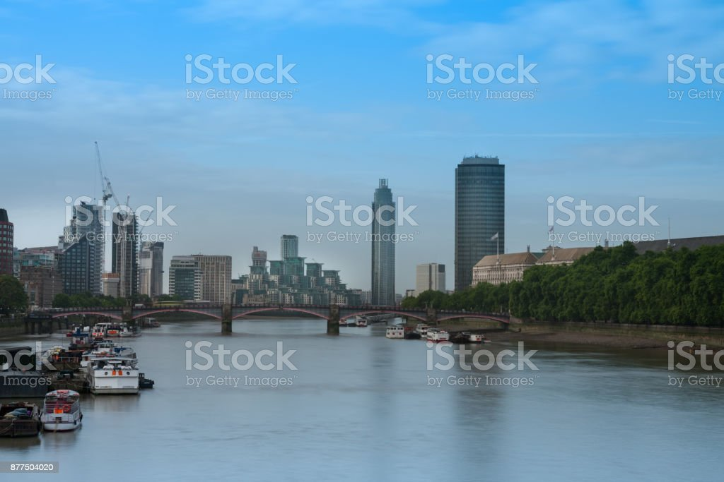 City cruise ships on the river Thames stock photo
