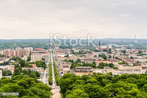 istock City Czestochowa view from the tower at Jasna Gora Monastery. 537712658