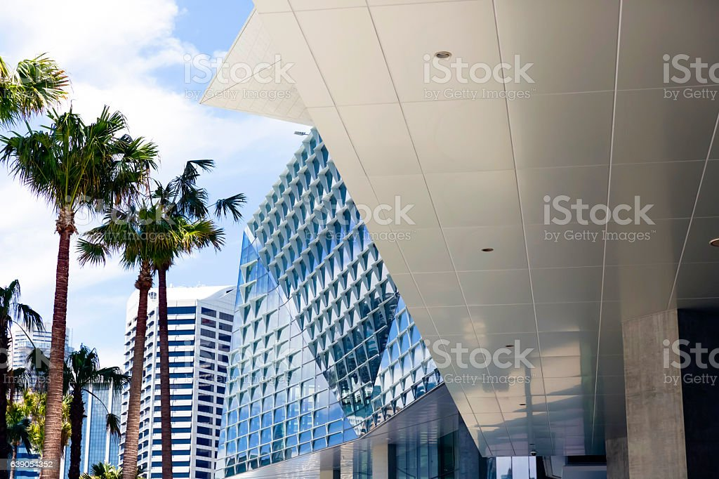 City, Darling Harbour Sydney Australia, background with copy space stock photo