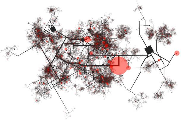 City Data Hotspots stock photo