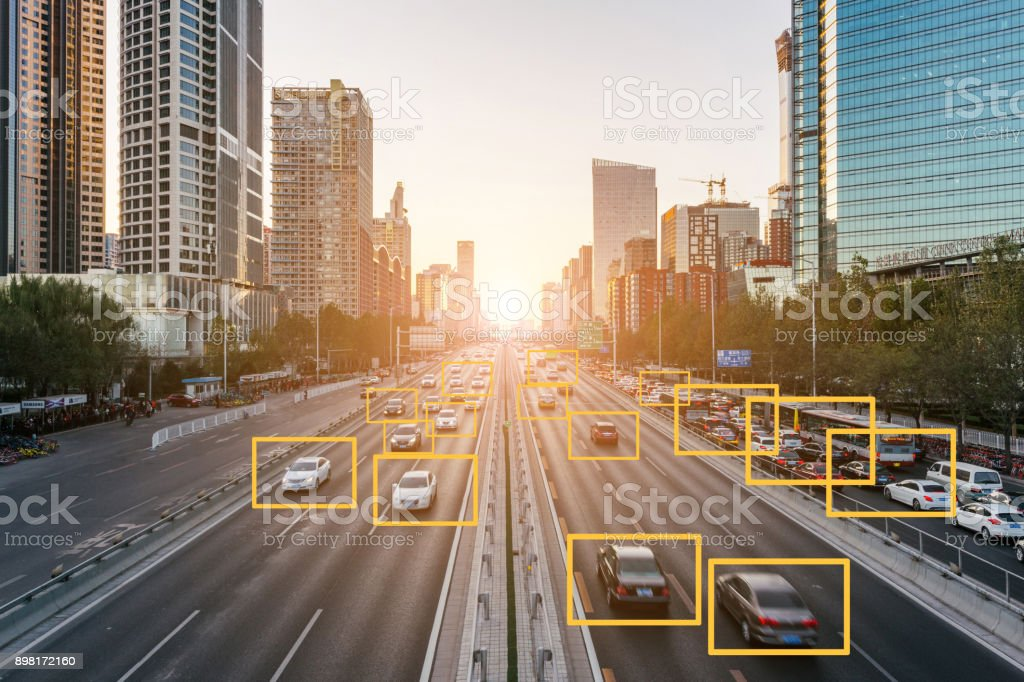 City Deep Learning stock photo