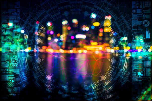 AI Stadt defokussierte Idee singapore – Foto