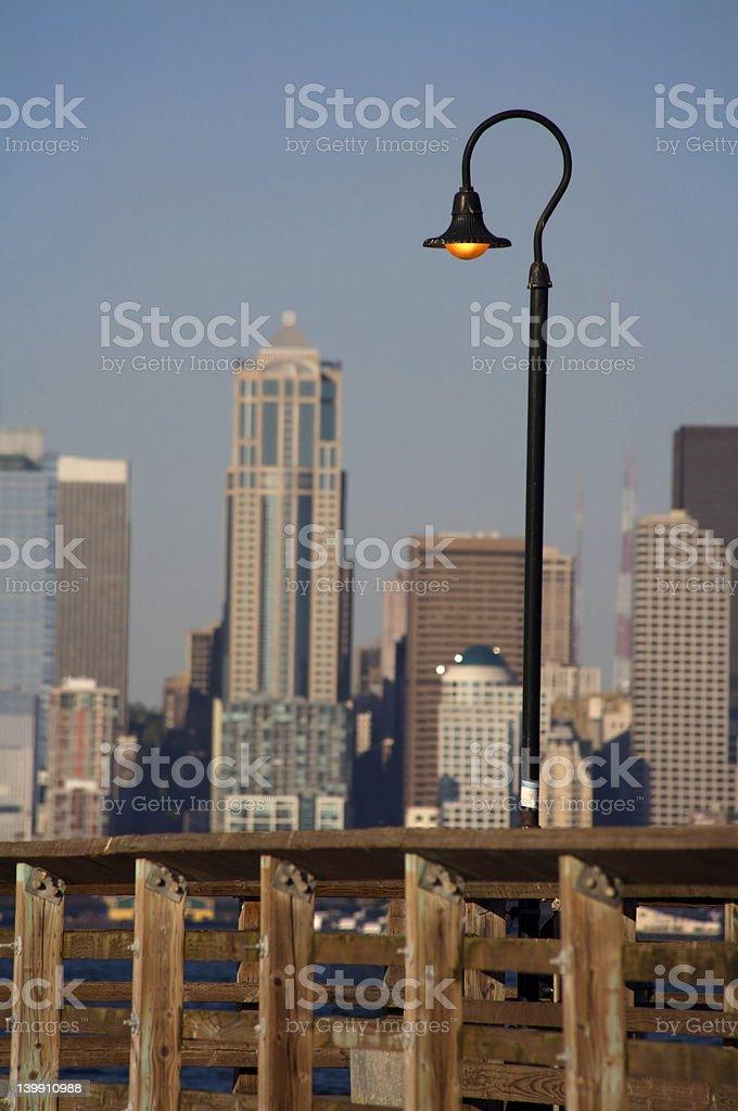 City Dock Lamp royalty-free stock photo