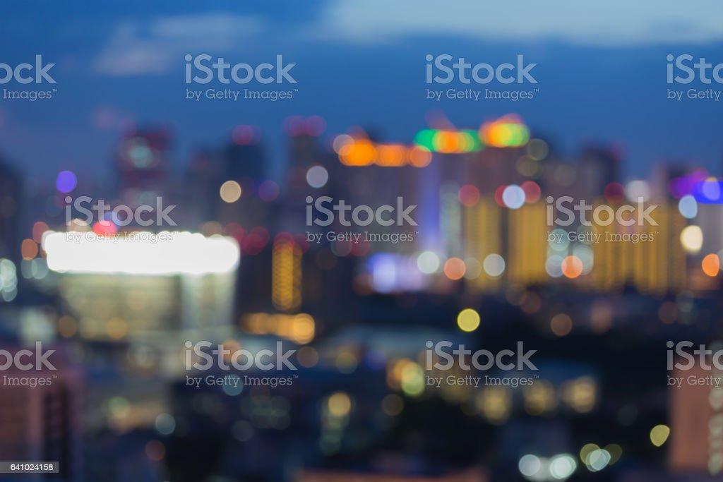 市市中心模糊散景燈圖像檔
