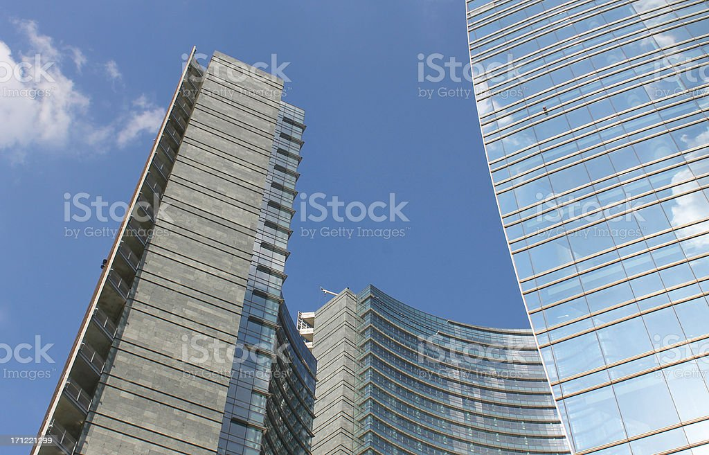 City downtown royalty-free stock photo