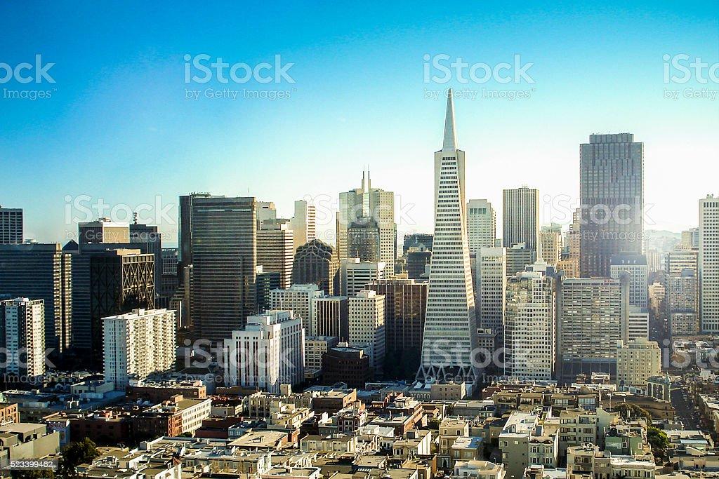 City downtown stock photo