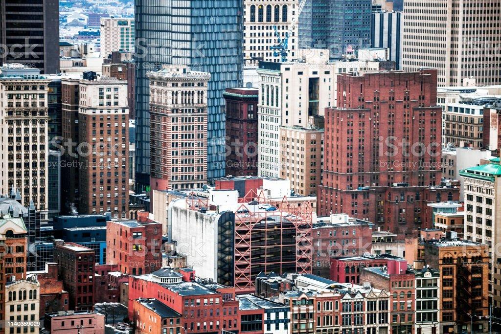 City downtown - Pittsburgh, PA stock photo