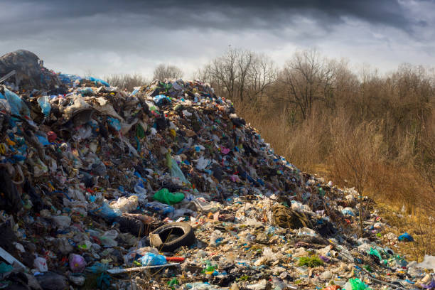 City dump in a European country stock photo
