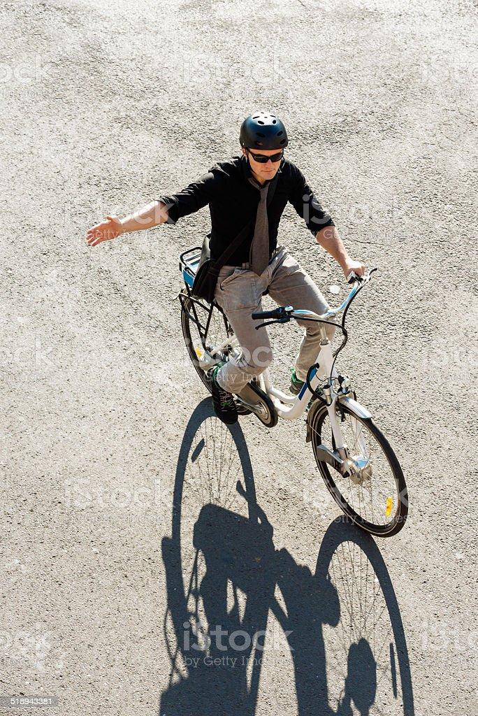 City E-Bike Commuter stock photo