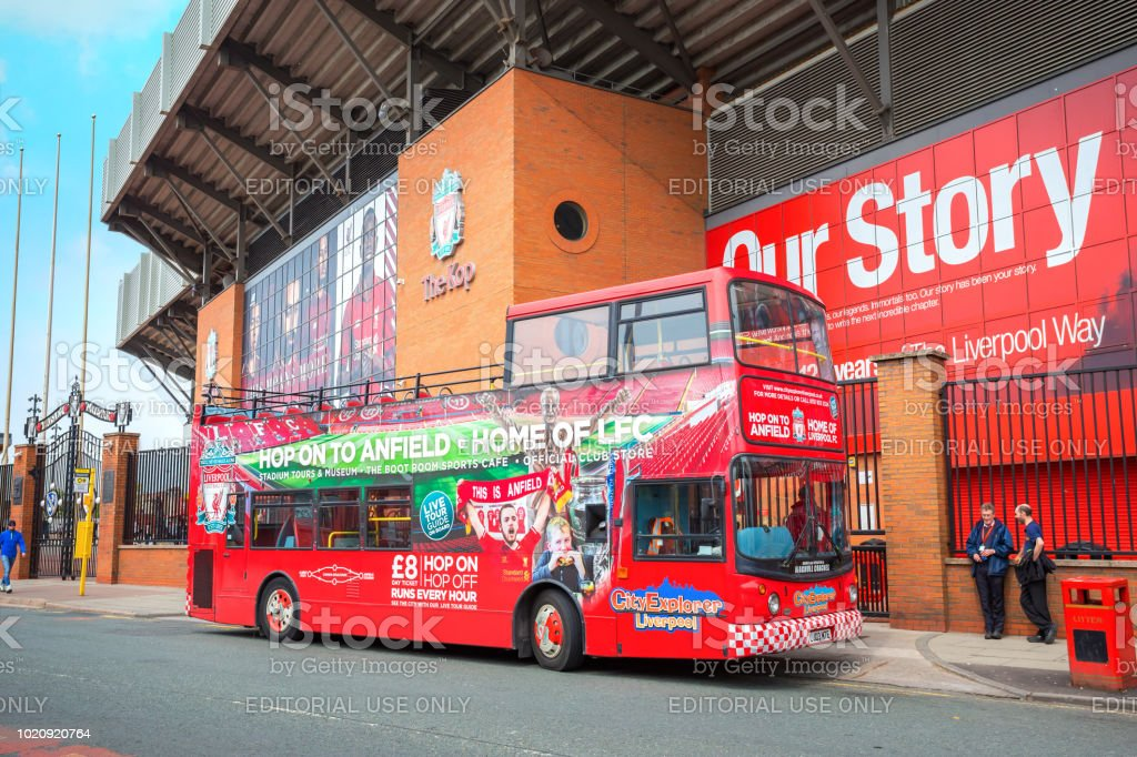 LFC City Explorer, sightseeing Liverpool tour bus stock photo