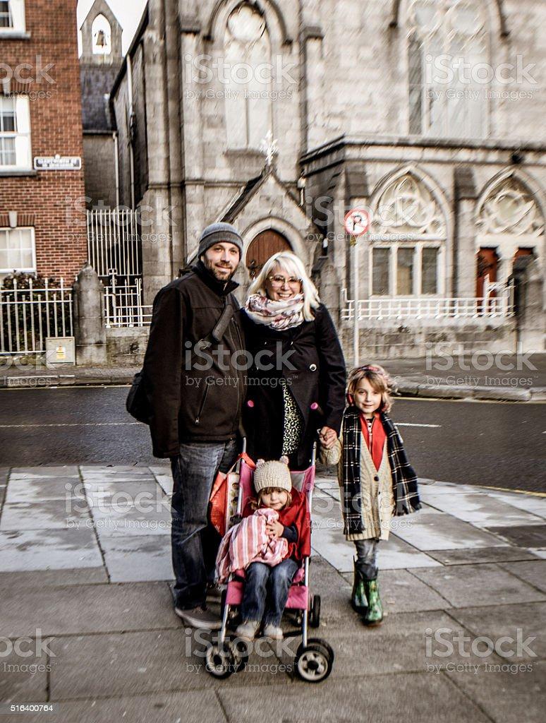City Family stock photo