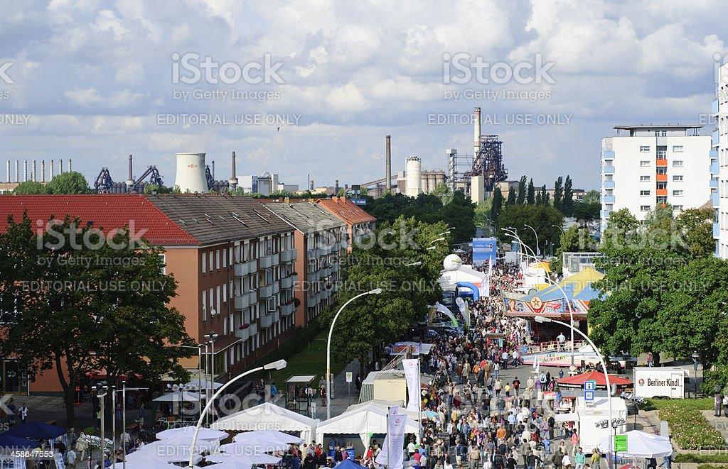 City festival Eisenhuettenstadt stock photo