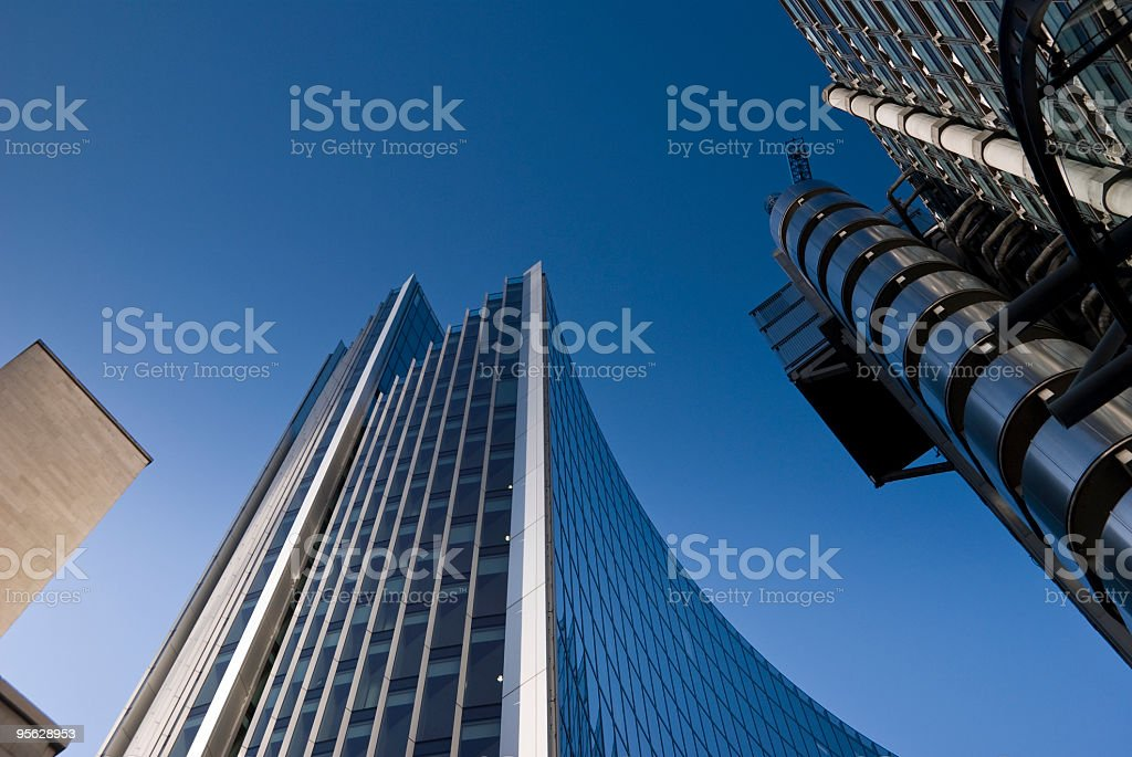 City financial district skyscrapers, including Lloyds of London stock photo