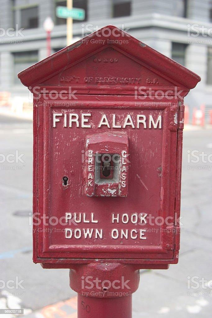 City Fire Alarm royalty-free stock photo