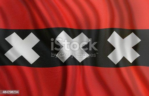 istock City Flag of Amsterdam in Nederlands 484298234