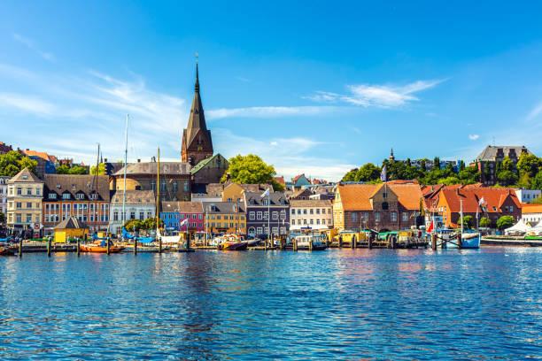 City Flensburg in Germany stock photo