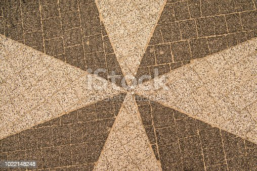 City floor with tiles in star shape
