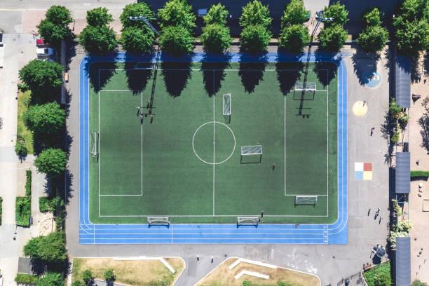 staden fotbollsplan - drone helsinki bildbanksfoton och bilder