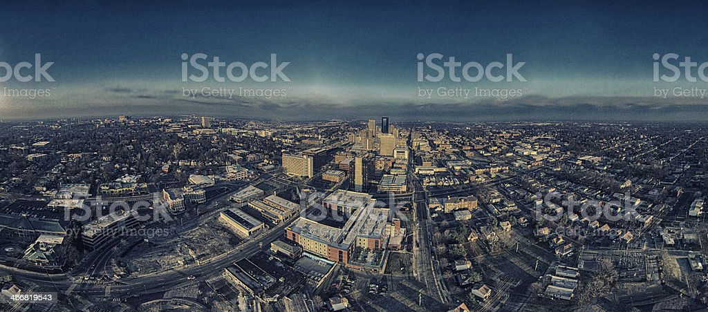 City from Above royalty-free stock photo