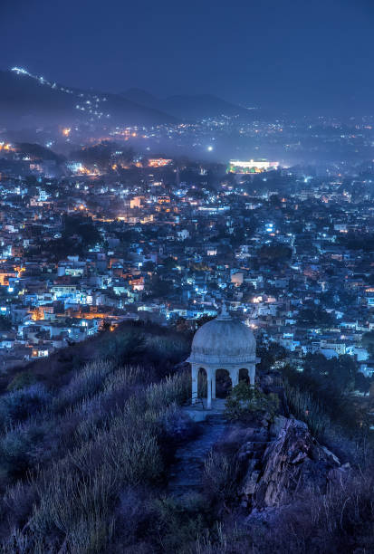 City from Above Urban Landscape of Udaipur udaipur stock pictures, royalty-free photos & images