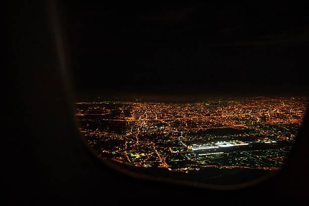 City from sky stock photo