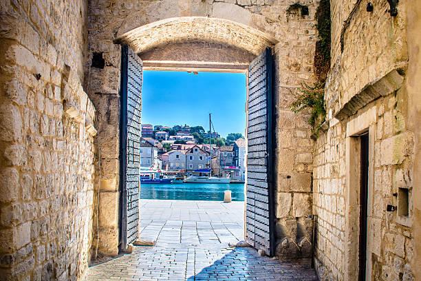 City gate Trogir Croatia. – Foto