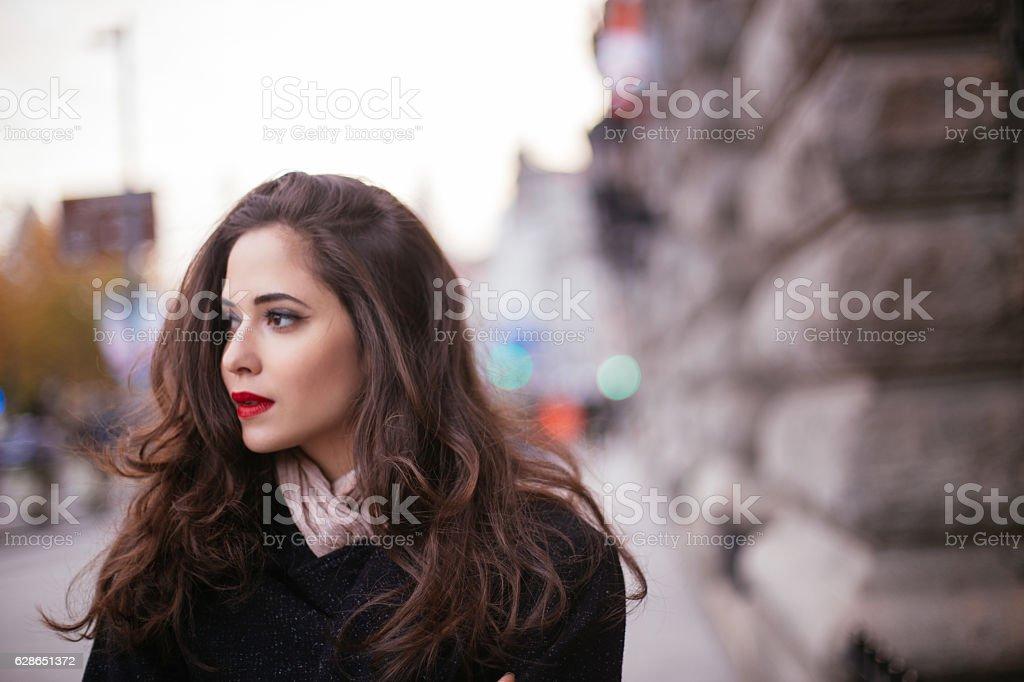 City girl stock photo