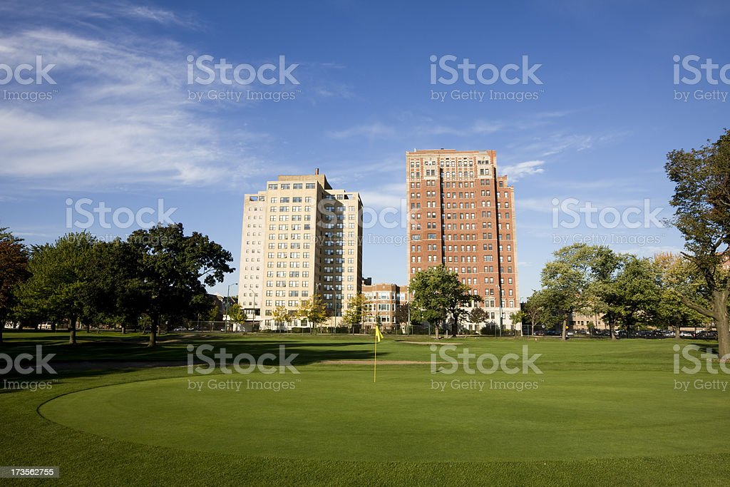 City Golf Course royalty-free stock photo