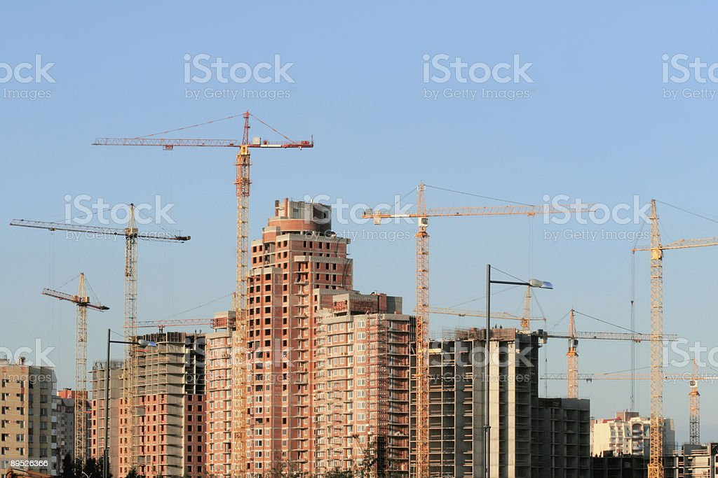City growing 免版稅 stock photo