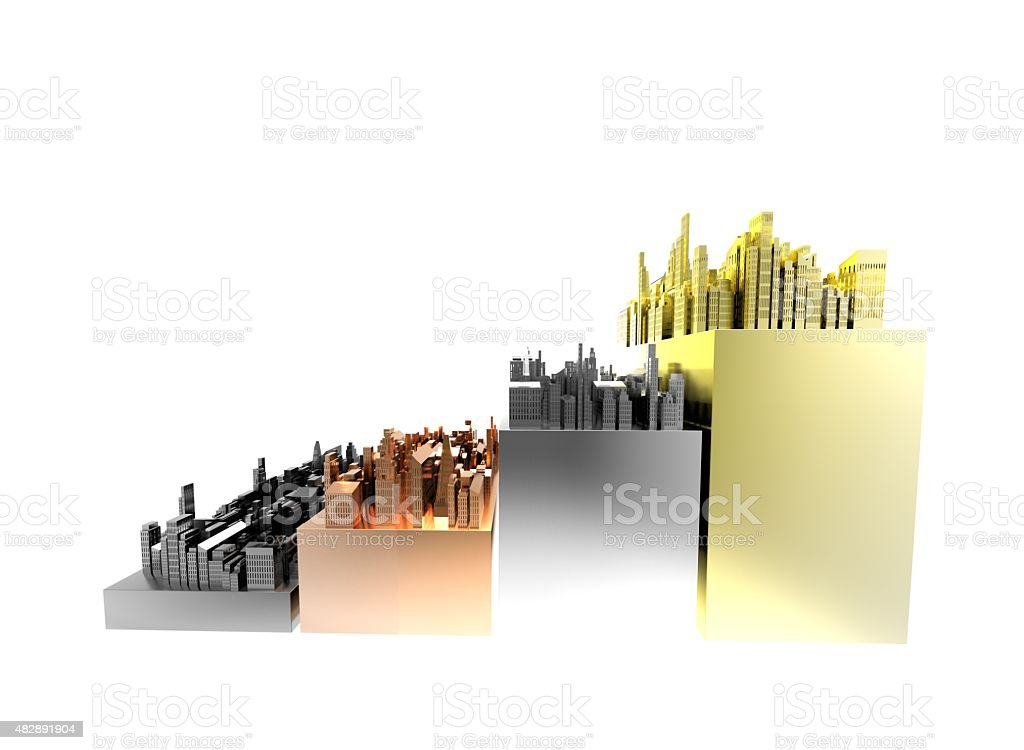 city growth comparison stock photo