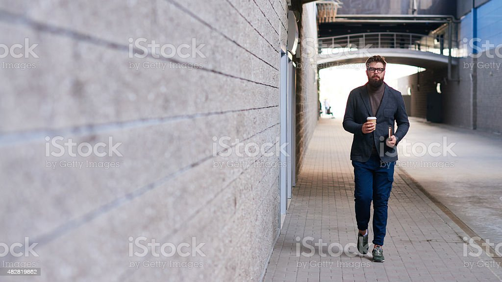 City guy stock photo