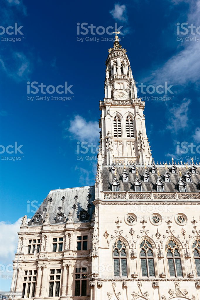 City Hall Arras, France stock photo